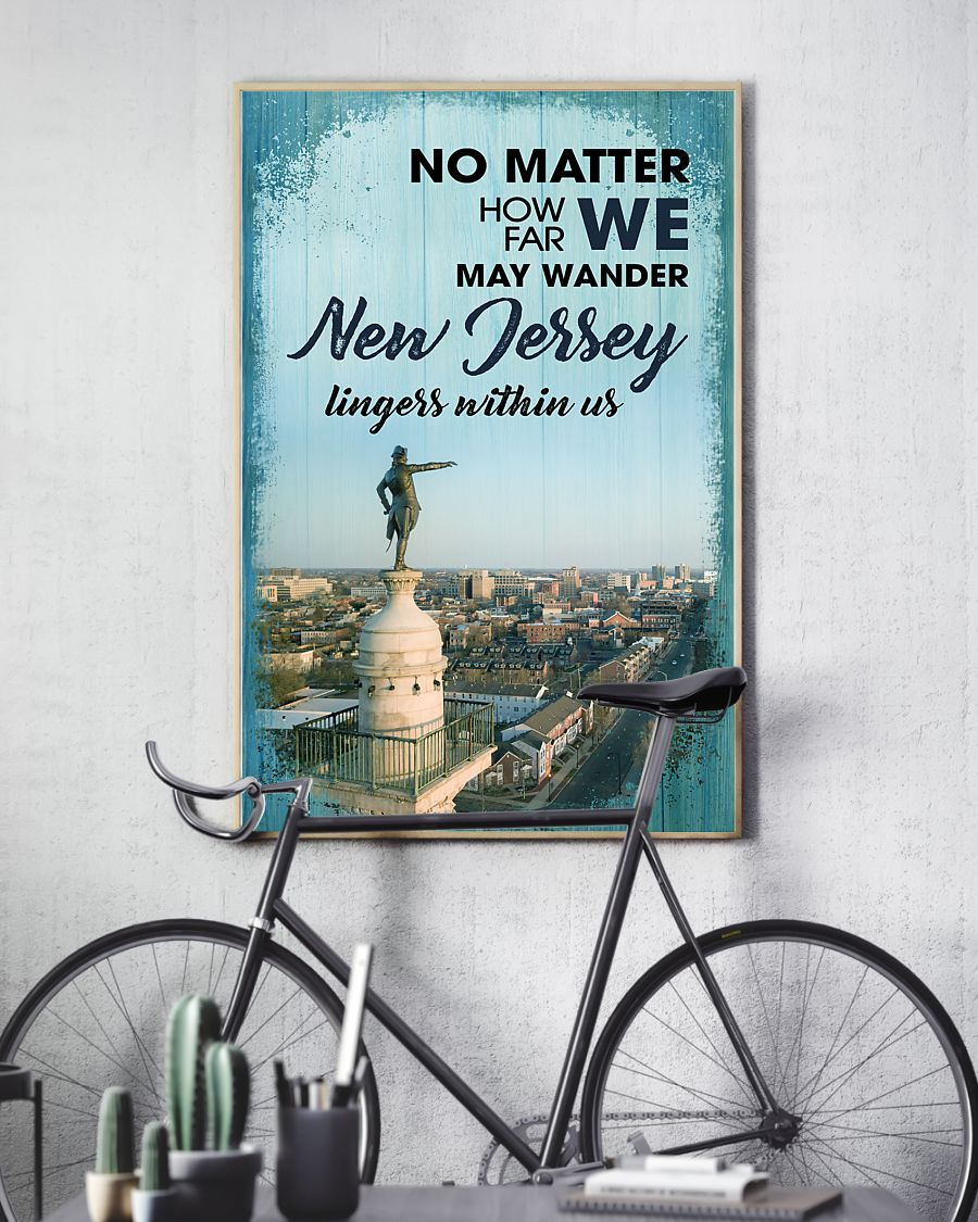 no matter how far we may wander new jersey lingers within us poster 3