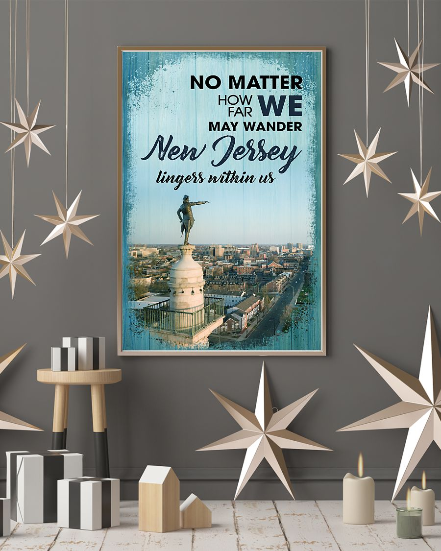 no matter how far we may wander new jersey lingers within us poster 4
