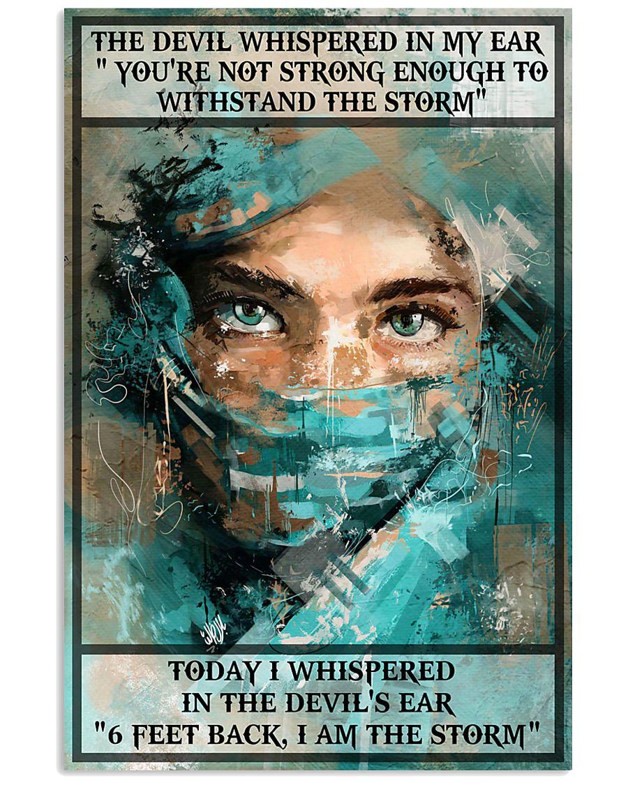 nurse i whispered 6 feet back i am the storm vintage poster 1