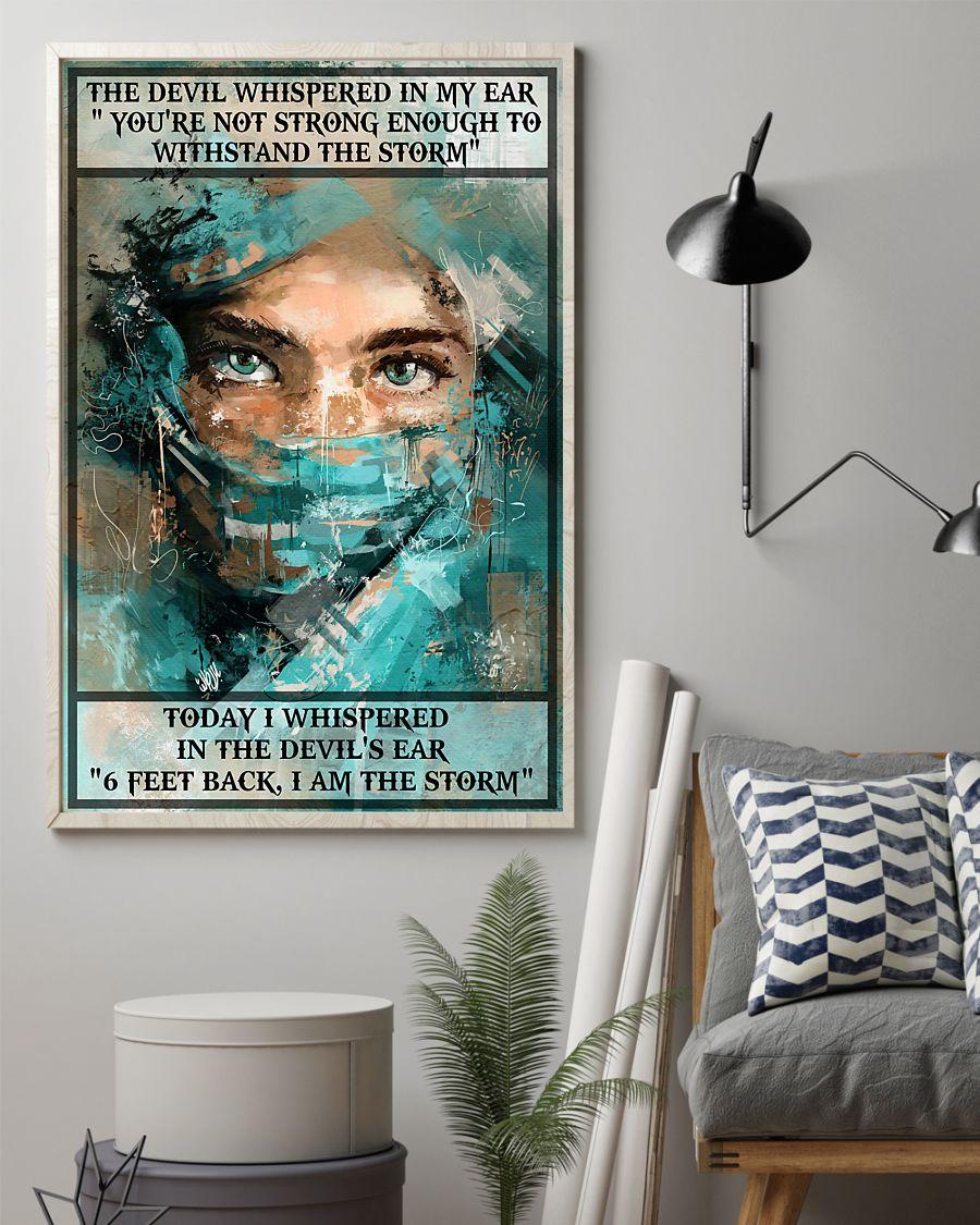 nurse i whispered 6 feet back i am the storm vintage poster 2