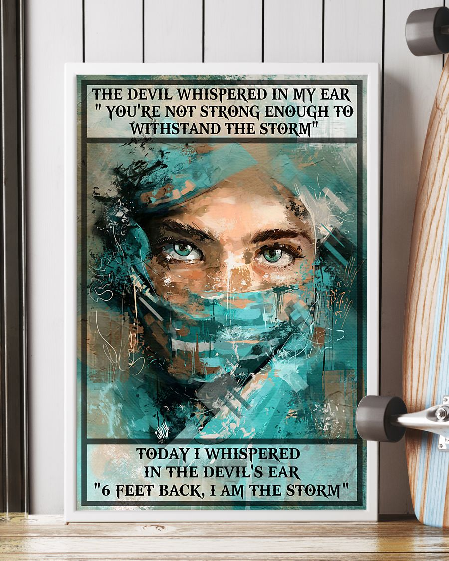 nurse i whispered 6 feet back i am the storm vintage poster 3