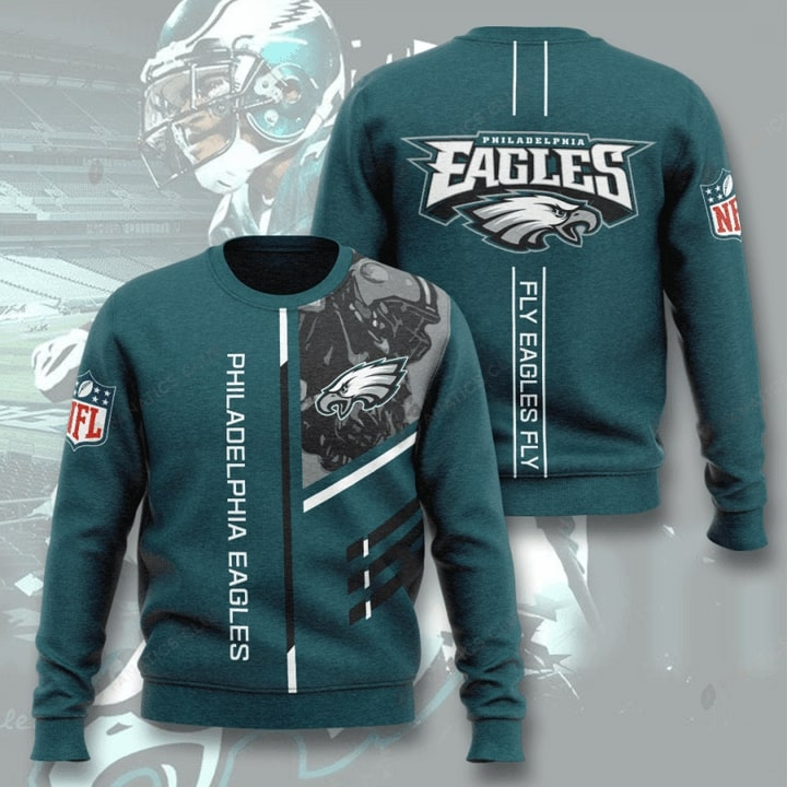 philadelphia eagles fly eagles fly full printing ugly sweater 3