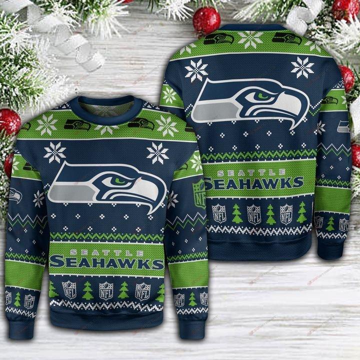 seatle seahawks football full printing ugly sweater 2