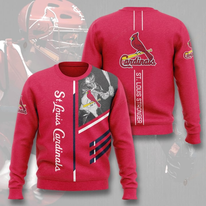 st louis cardinals st louis stronger full printing ugly sweater 2