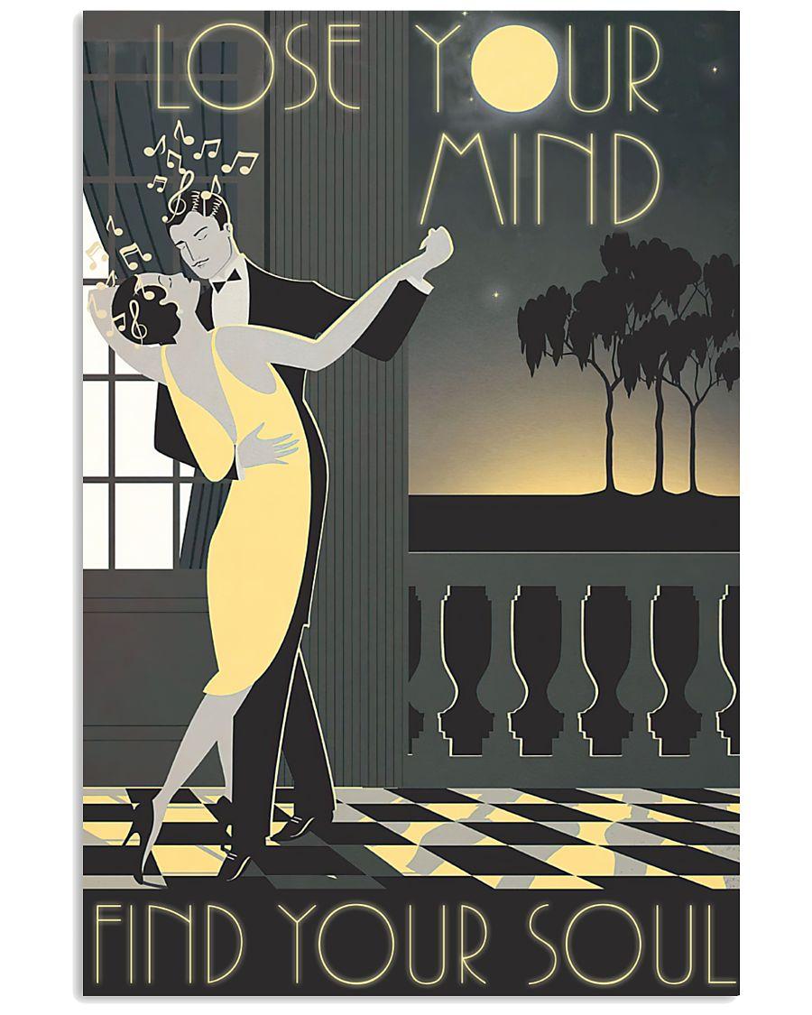 vintage dance couple lose your mind find your soul poster 1