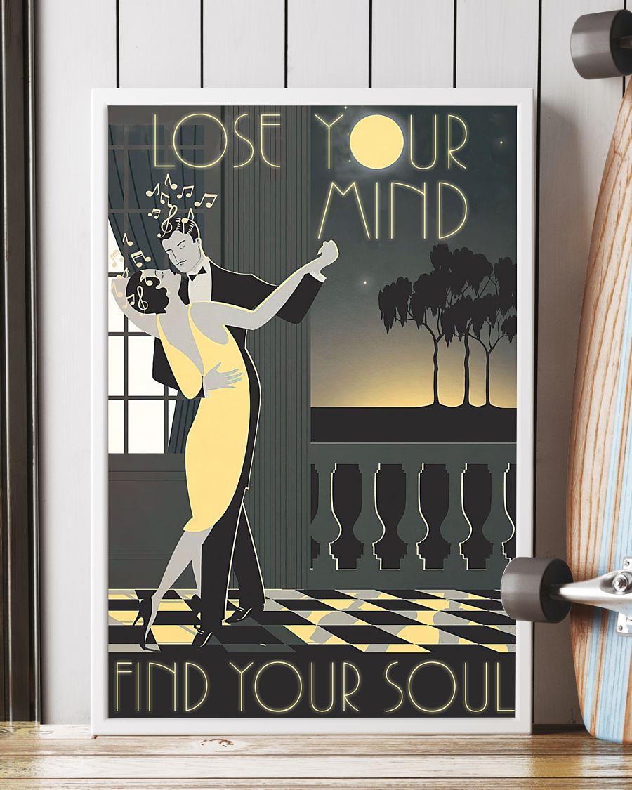 vintage dance couple lose your mind find your soul poster 2
