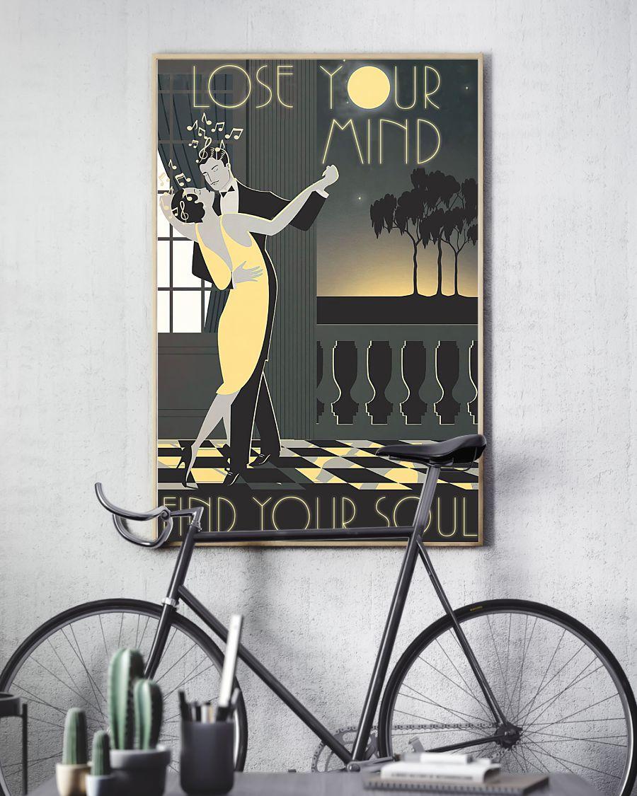 vintage dance couple lose your mind find your soul poster 4