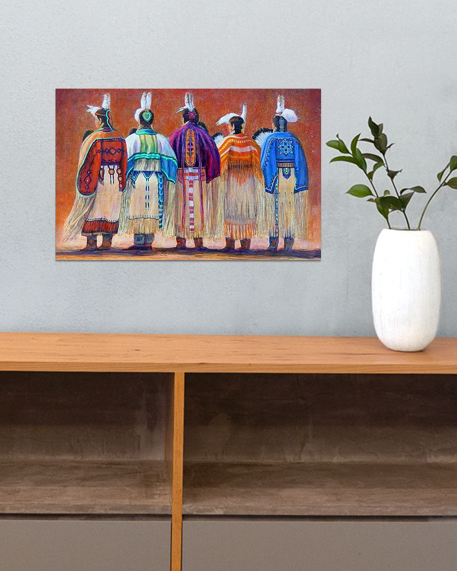 vintage native american women colorful wall art poster 3
