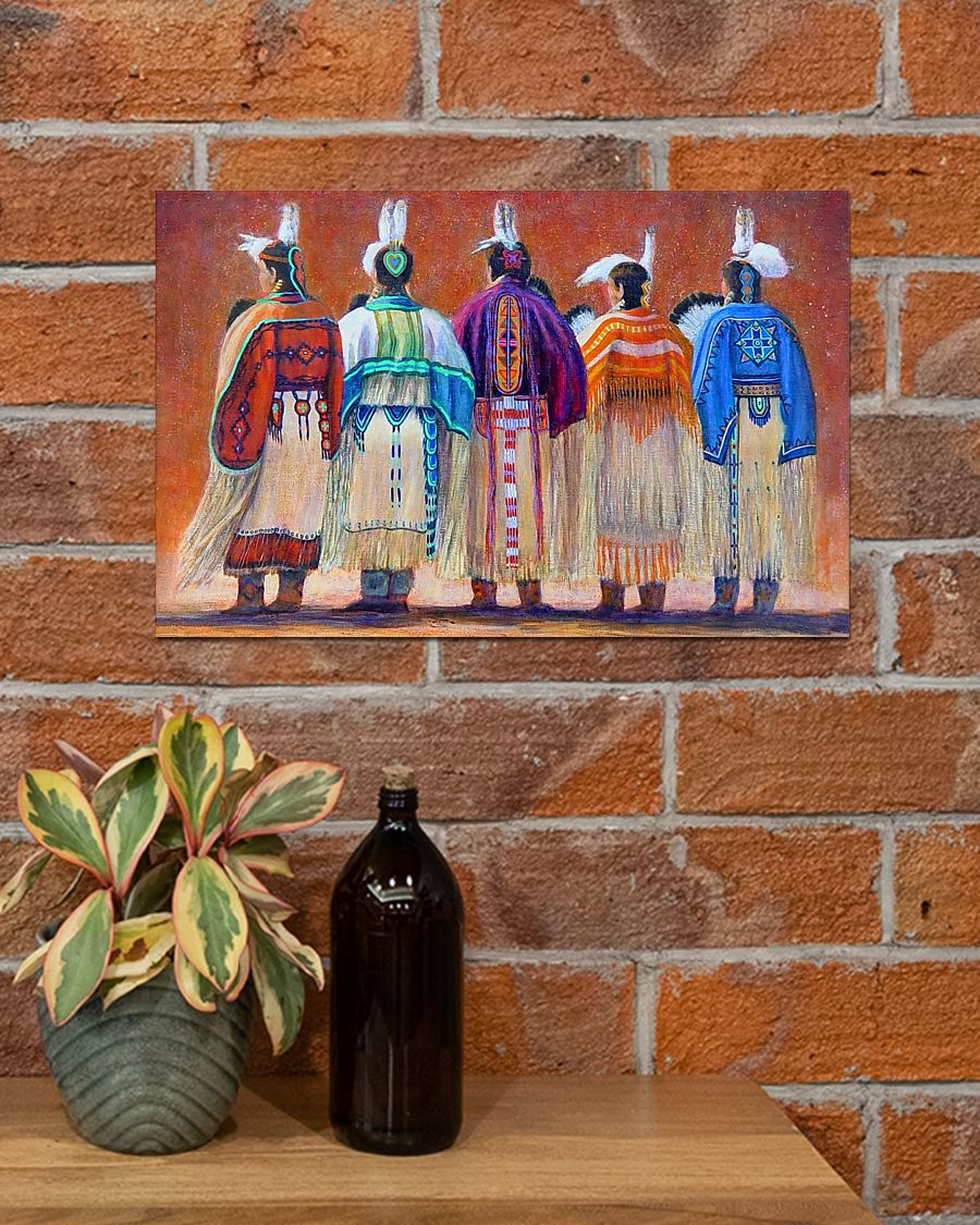 vintage native american women colorful wall art poster 4