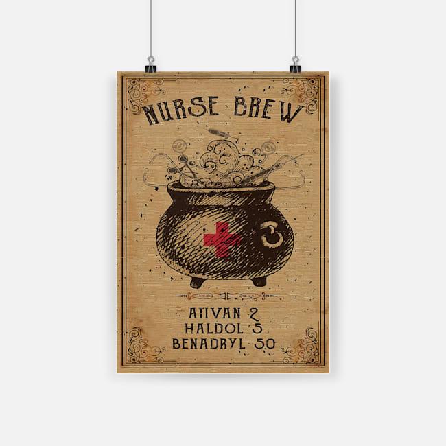 vintage nurse brew ativan 2 haldol 5 benadryl 50 halloween poster 1 - Copy
