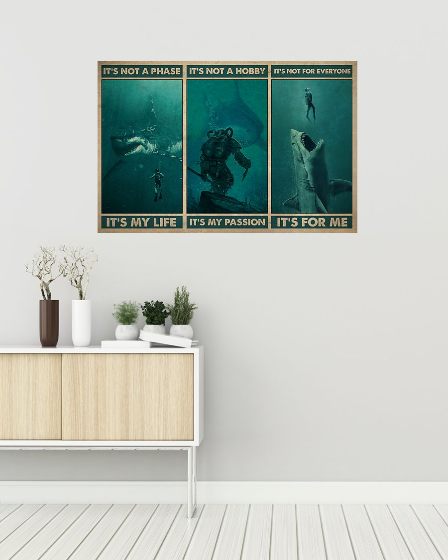 vintage scuba its not a phase its my life its not a hobby its my passion poster 2