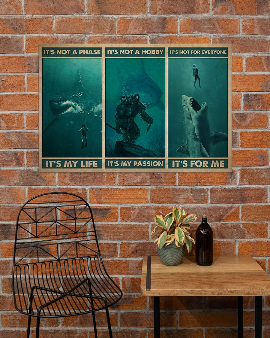 vintage scuba its not a phase its my life its not a hobby its my passion poster 3