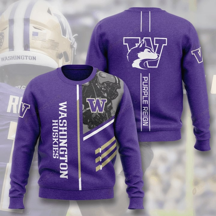 washington huskies football purple reign full printing ugly sweater 3