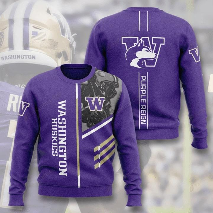 washington huskies football purple reign full printing ugly sweater 4