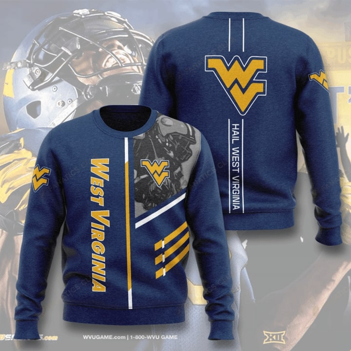 west virginia mountaineers football hail west virginia full printing ugly sweater 3