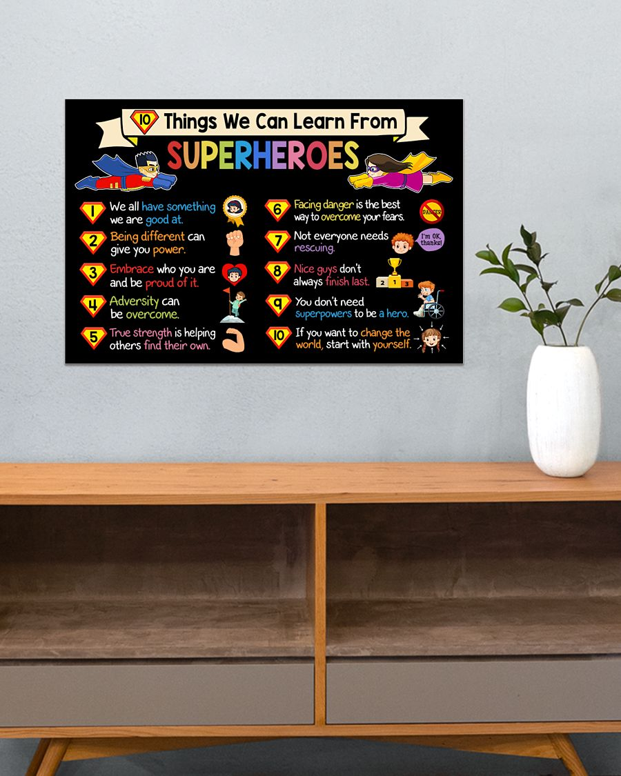 10 things we can learn from superheroes poster 4