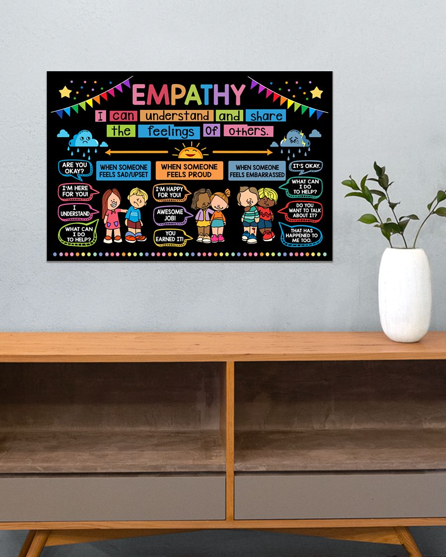 back to school empathy classroom poster 4