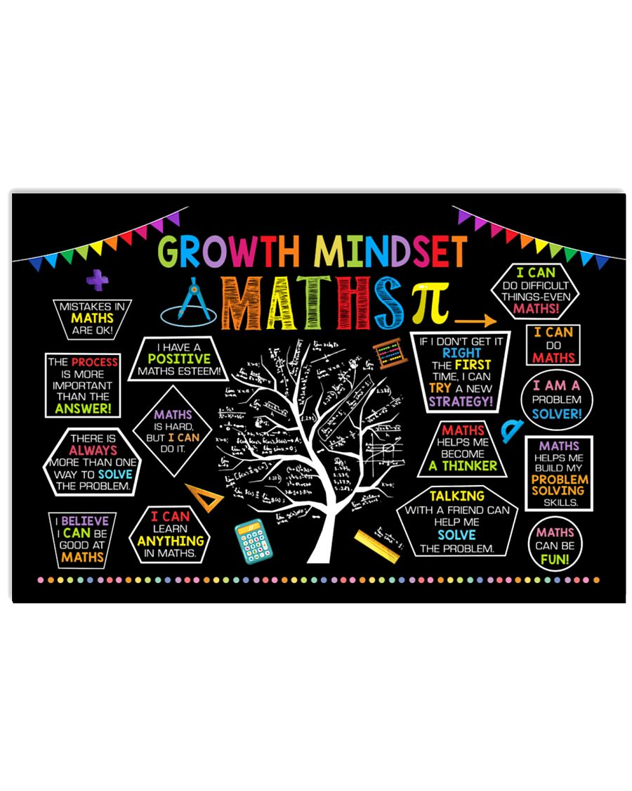 back to school growth mindset maths poster 1