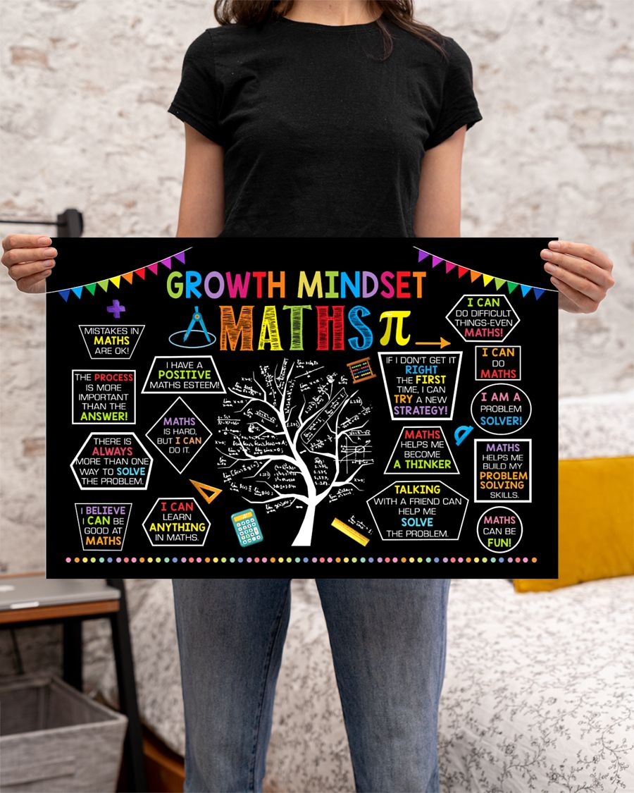 back to school growth mindset maths poster 2
