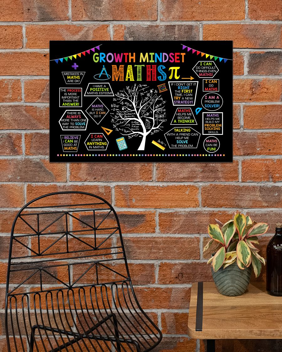 back to school growth mindset maths poster 4