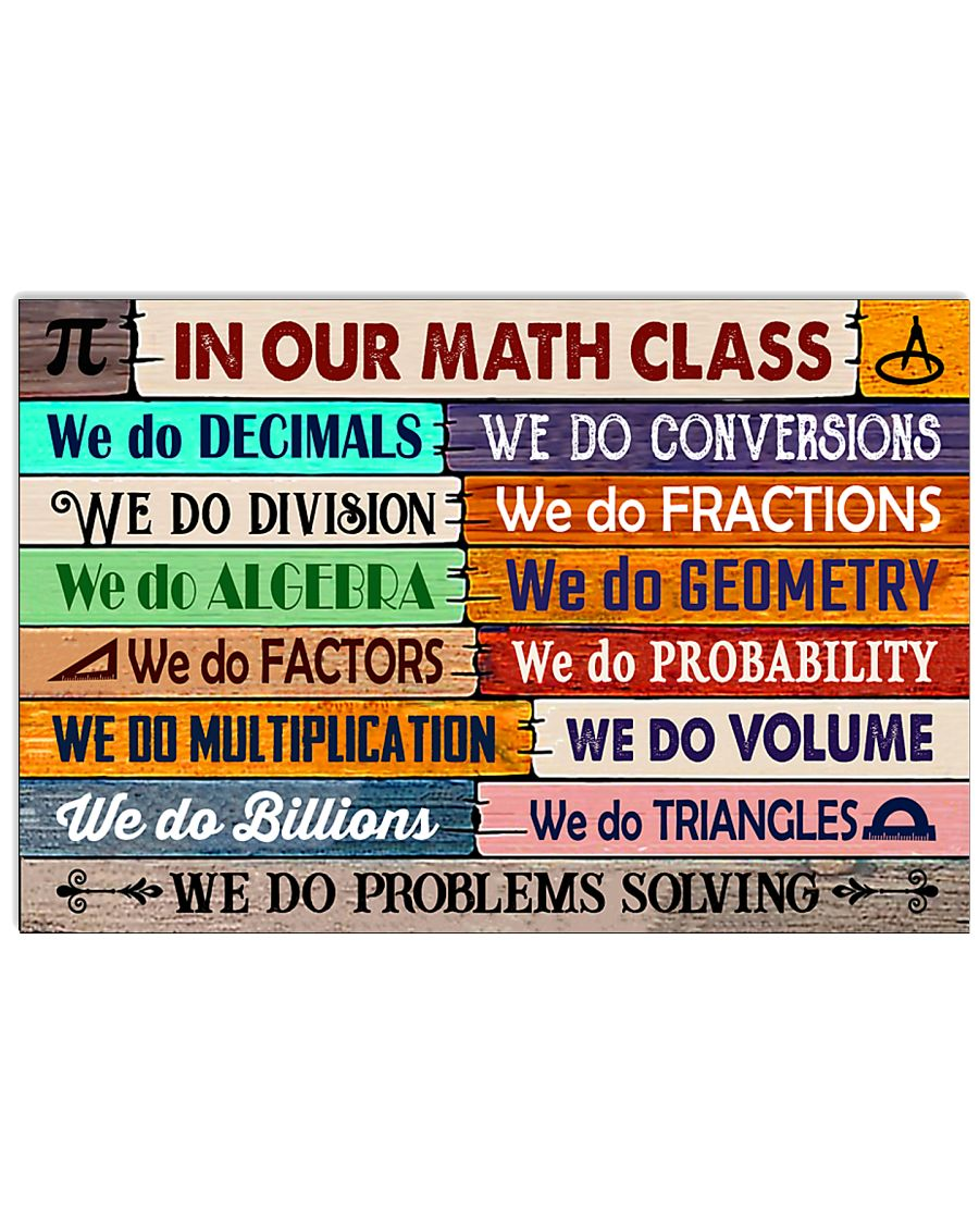 back to school in our math class poster 1