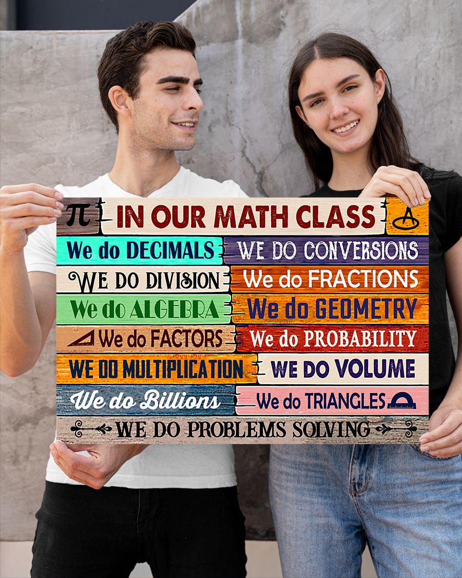back to school in our math class poster 2