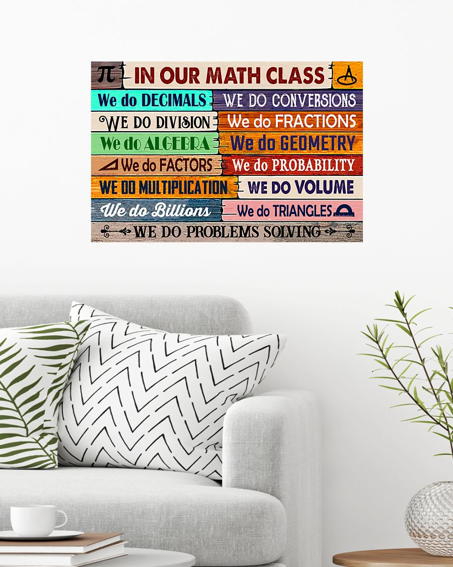 back to school in our math class poster 3