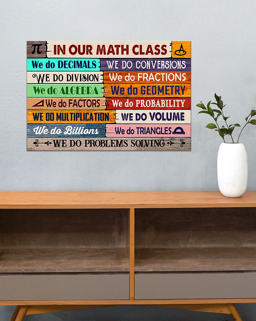 back to school in our math class poster 4