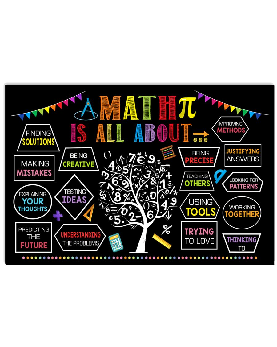back to school math is all about poster 1