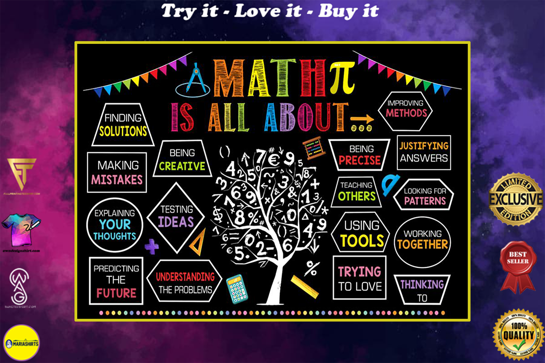 back to school math is all about poster