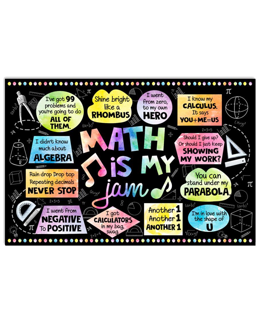 back to school math is my jam poster 1