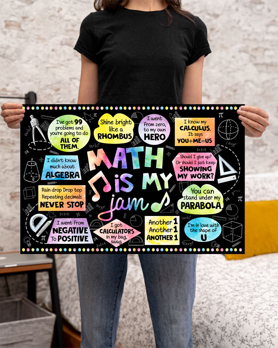 back to school math is my jam poster 2