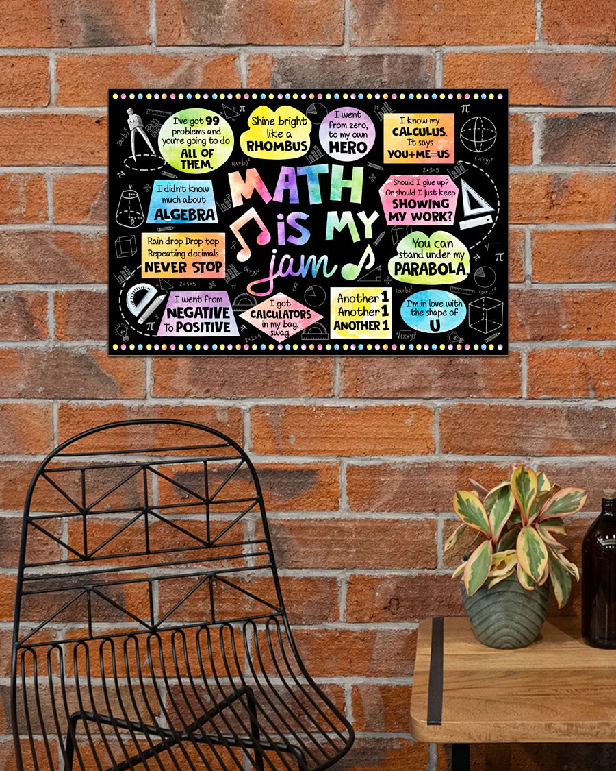 back to school math is my jam poster 3