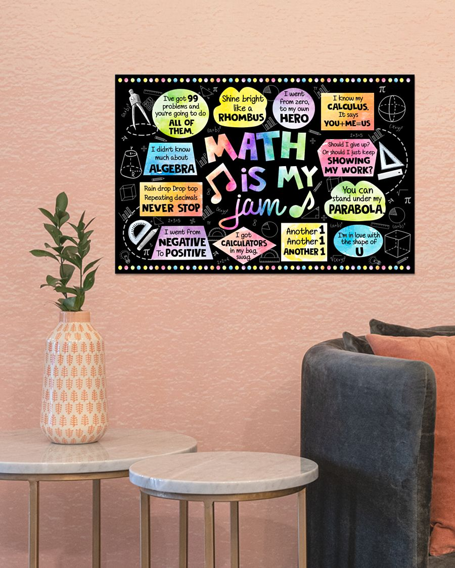 back to school math is my jam poster 4