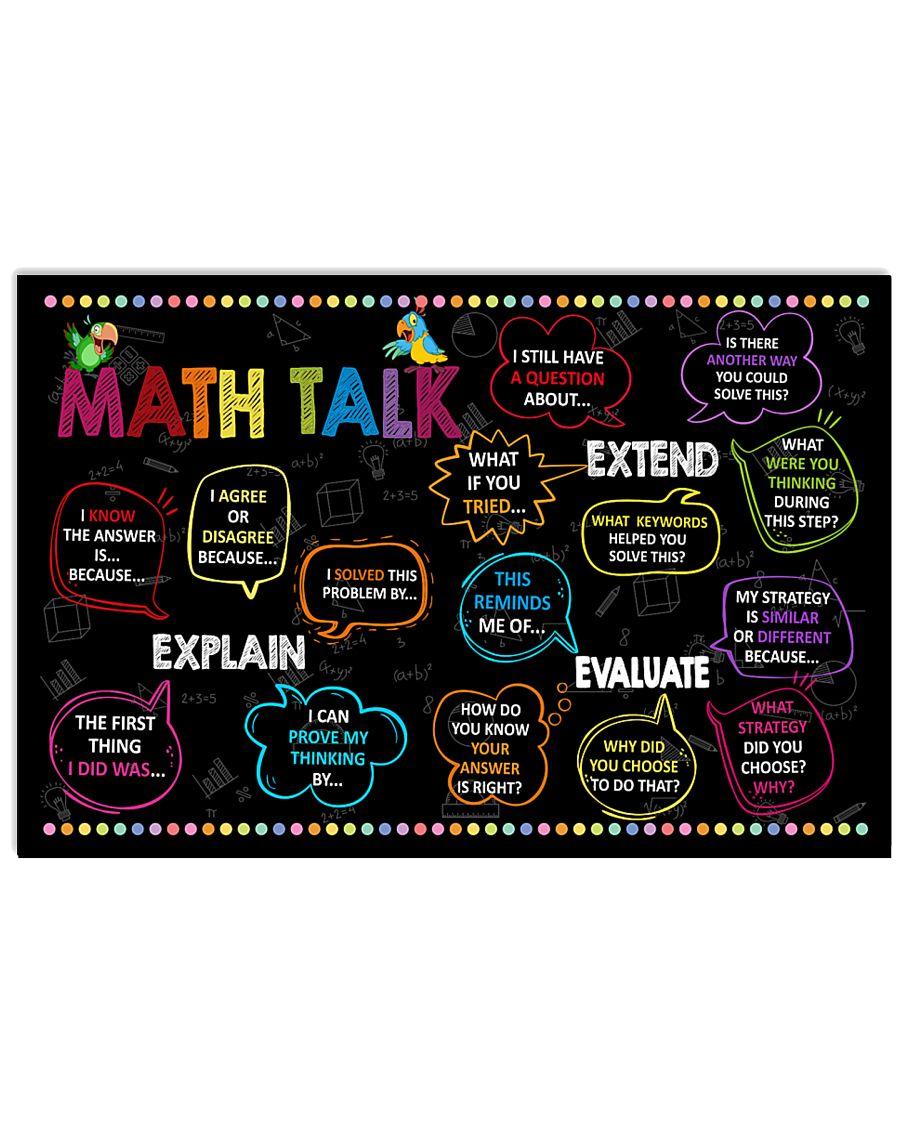 back to school math talk poster 1