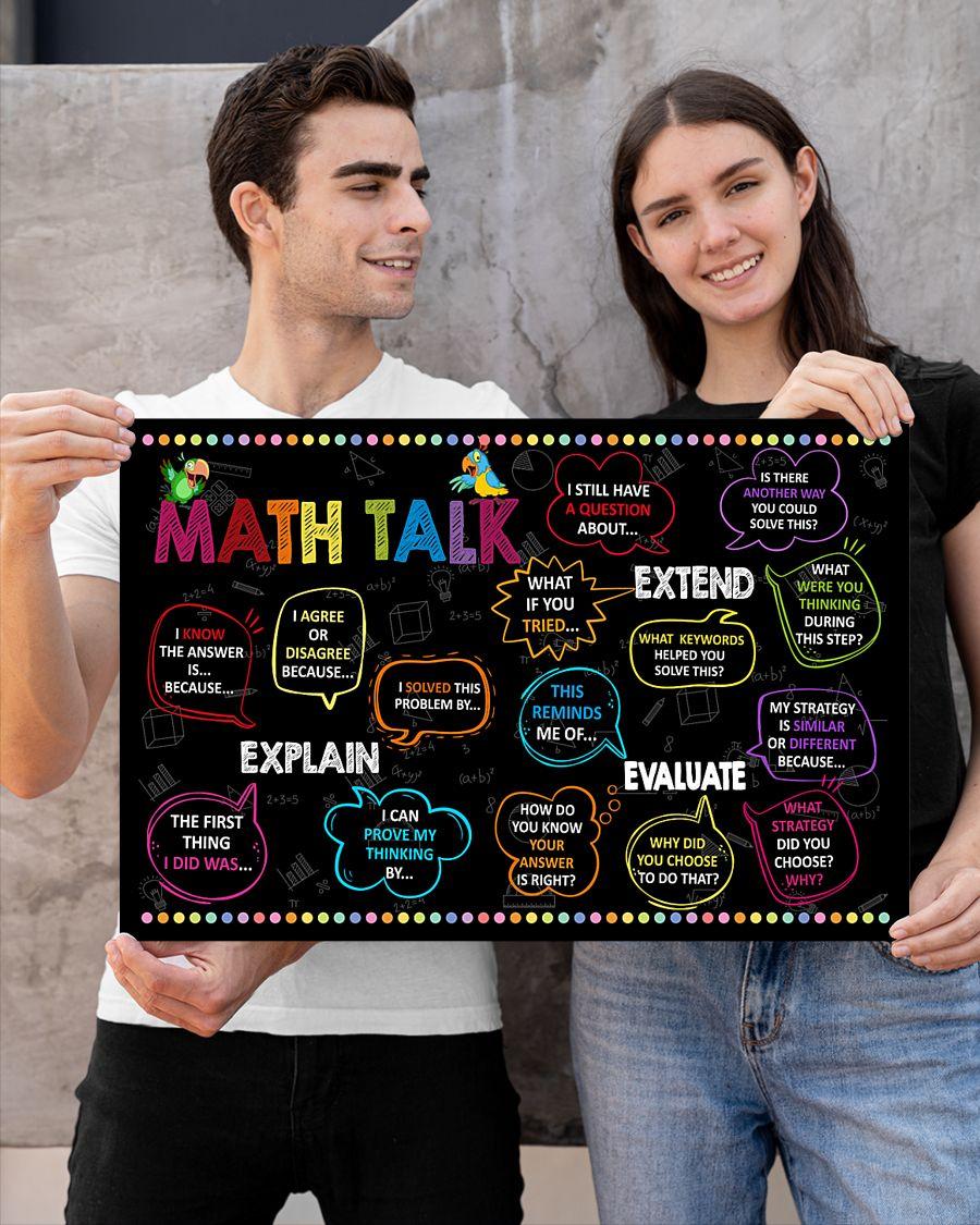 back to school math talk poster 3