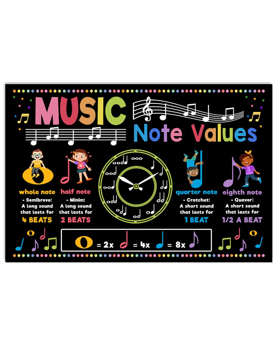 back to school music note values poster 1