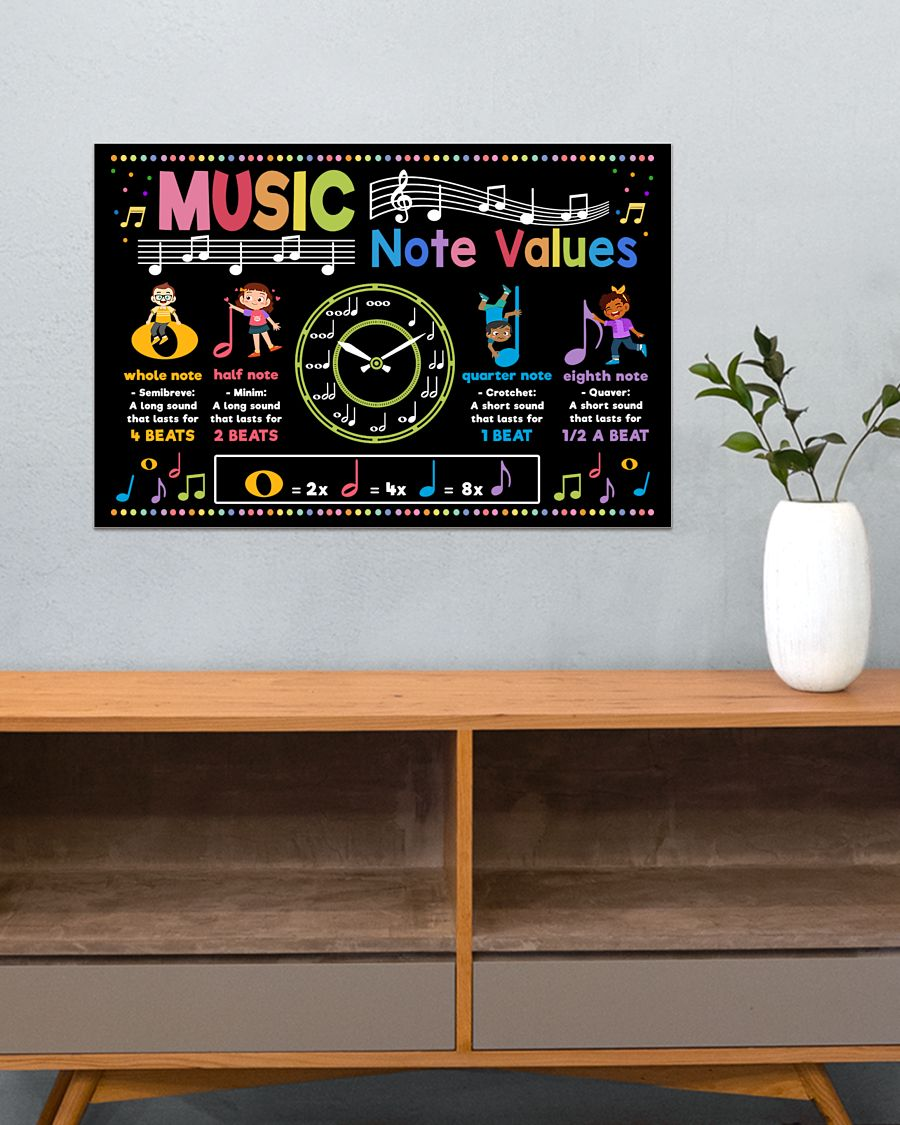 back to school music note values poster 3