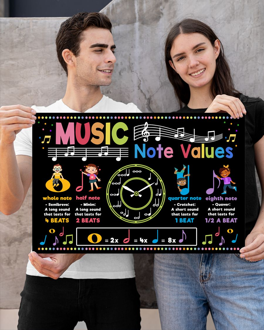 back to school music note values poster 4