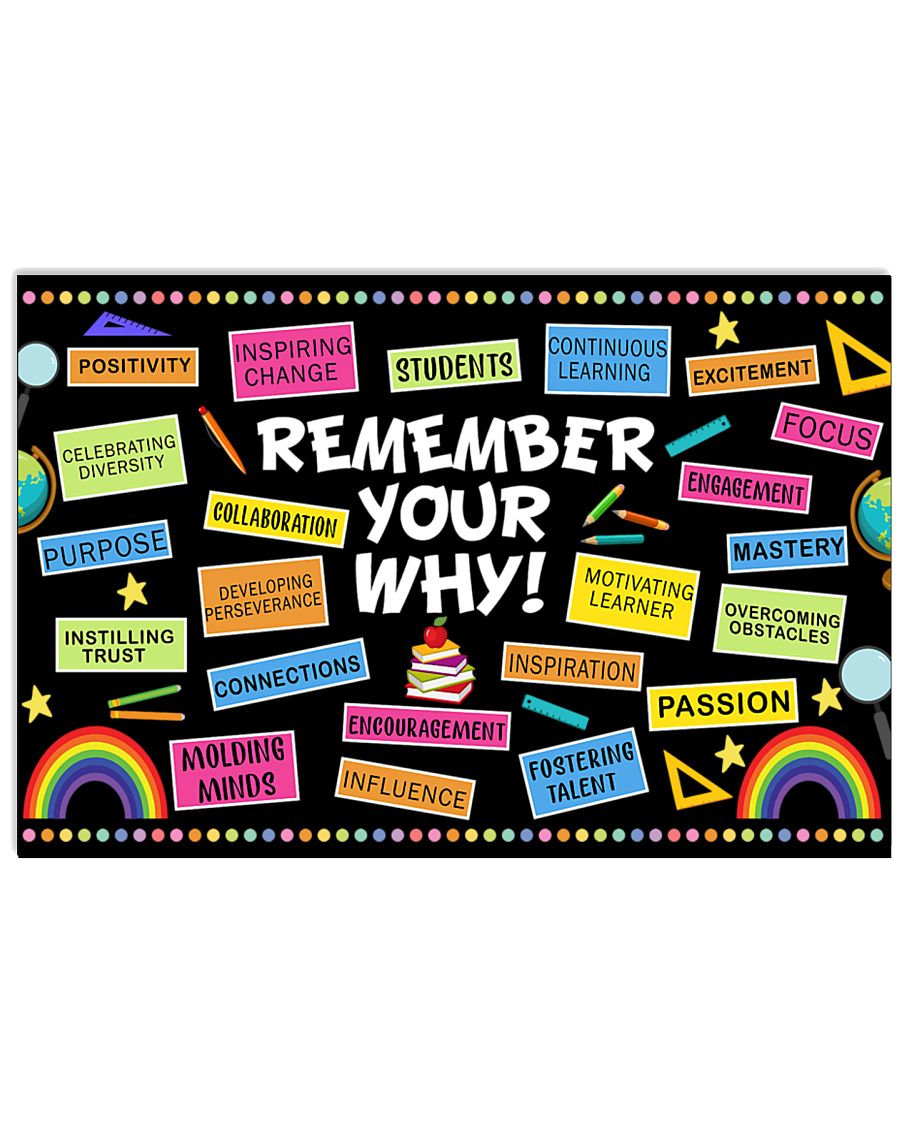 back to school remember your why teacher poster 1