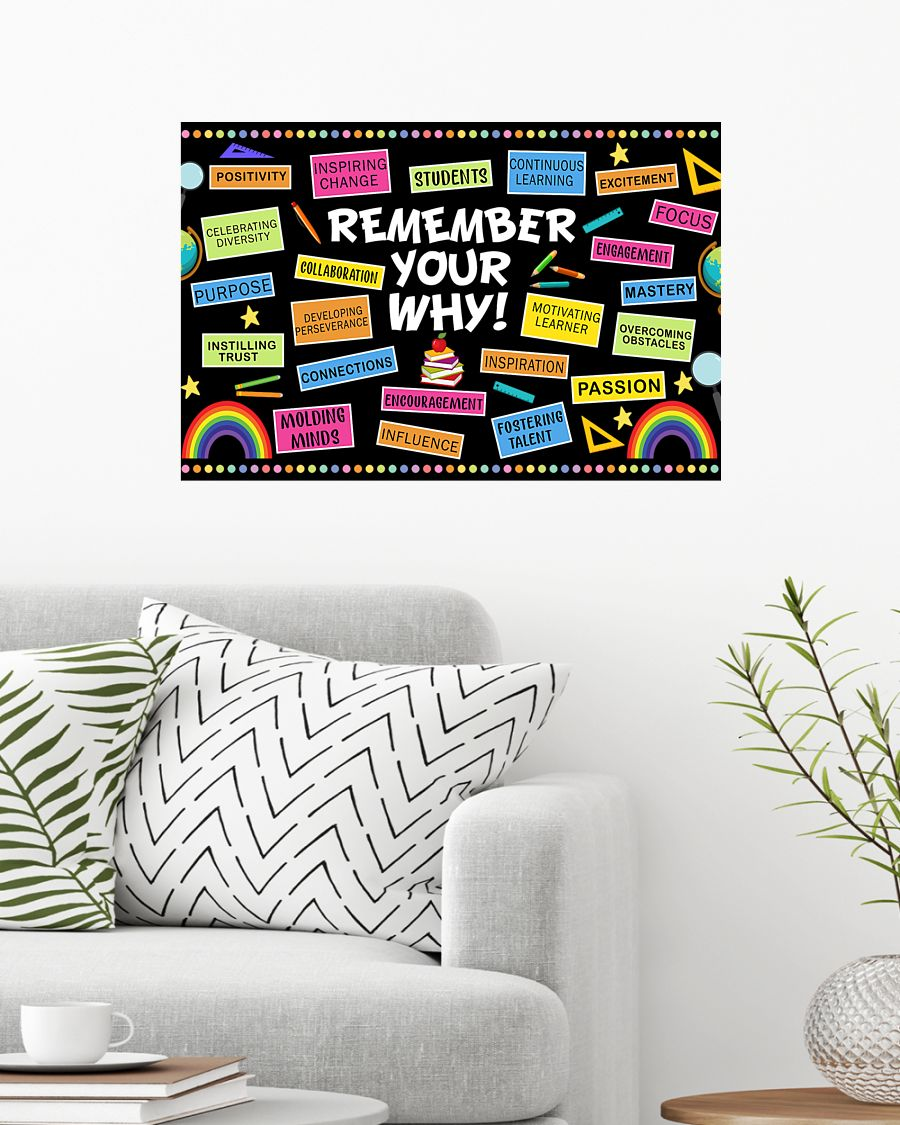 back to school remember your why teacher poster 2