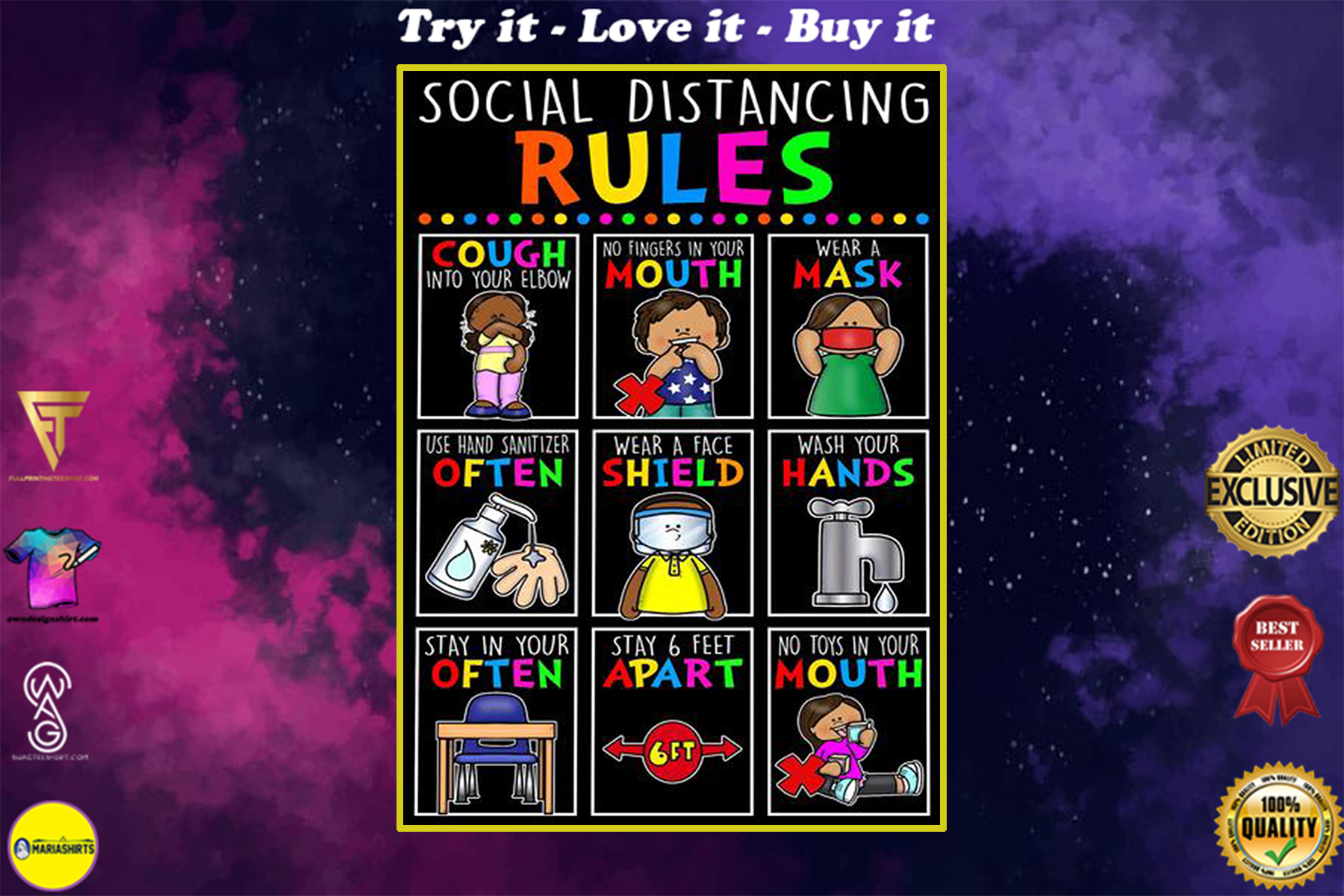 back to school social distancing classroom rules poster