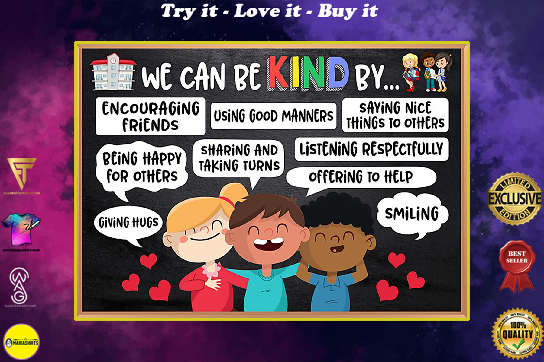 back to school we can be kind by poster