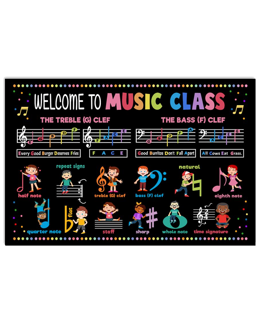 back to school welcome to music class poster 1
