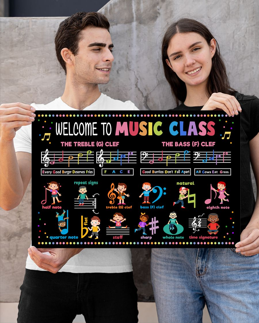 back to school welcome to music class poster 3