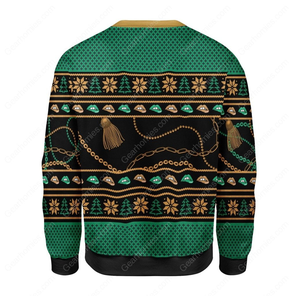 cardi b theres some hos in this house all over printed ugly christmas sweater 4