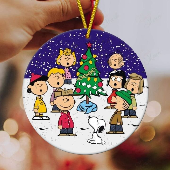 charlie brown and friends singsing christmas ornament 5