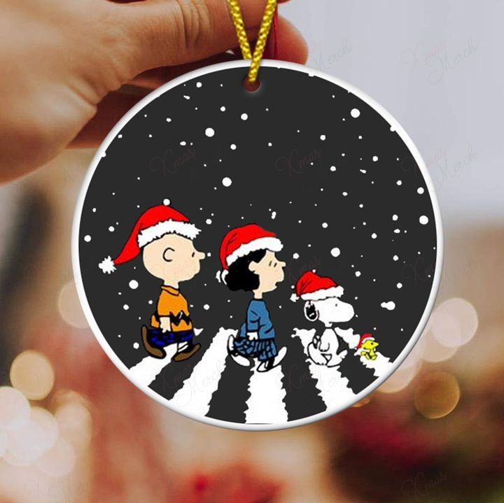 charlie brown and snoopy christmas ornament 3
