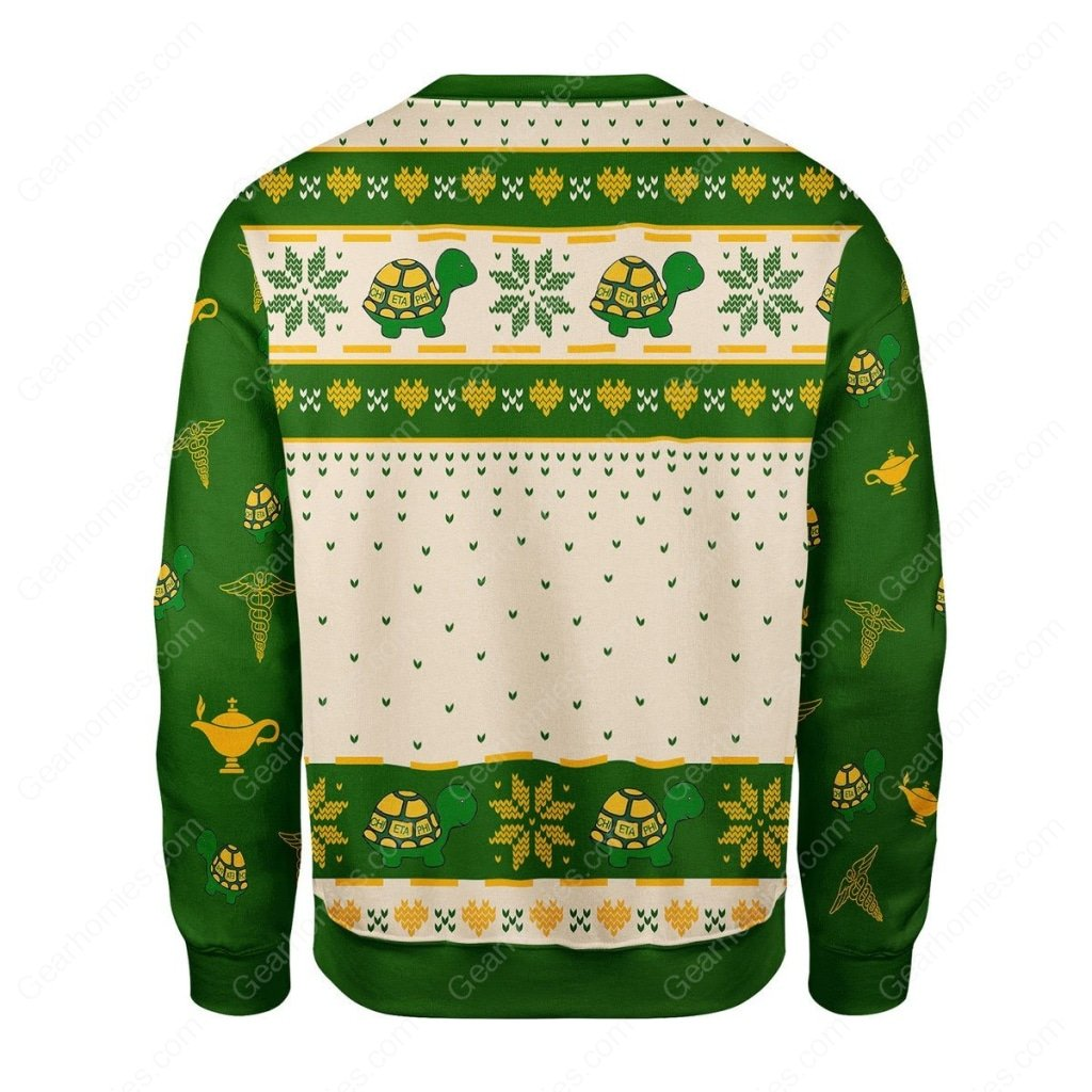 christmas time chi eta phi all over printed ugly christmas sweater 4