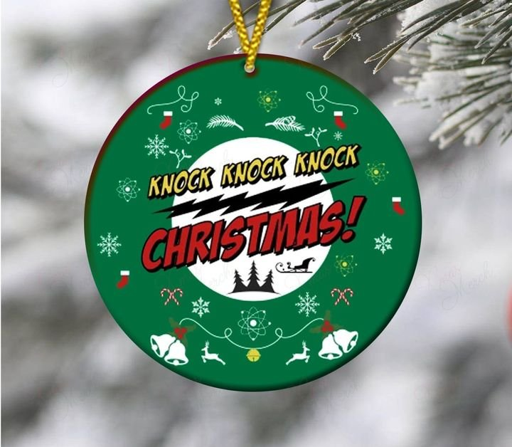 christmas time knock knock knock christmas ornament 3
